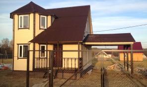 2-эт. дом 108 м2.,по канадской, каркасной технологии, 7Х7м. в д. Дворяниново
